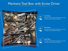 Mechanic Tool Box With Screw Driver