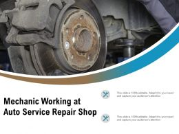 Mechanic Working At Auto Service Repair Shop
