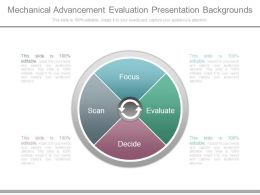 Mechanical Advancement Evaluation Presentation Backgrounds