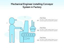 Mechanical Engineer Installing Conveyor System In Factory