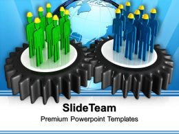 Mechanical Gear Powerpoint Templates Teamwork Global Ppt Process