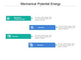 Mechanical Potential Energy Ppt Powerpoint Presentation Pictures Mockup Cpb