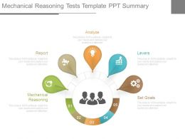 Mechanical Reasoning Tests Template Ppt Summary