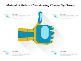 Mechanical Robotic Hand Showing Thumbs Up Gesture