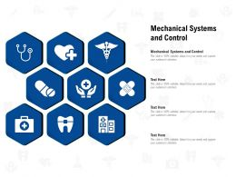 Mechanical Systems And Control Ppt Powerpoint Presentation Inspiration Template