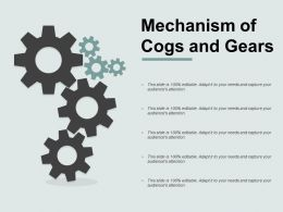 Mechanism Of Cogs And Gears