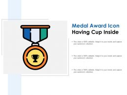 Medal Award Icon Having Cup Inside