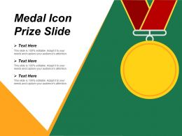 Medal Icon Prize Slide Ppt Ideas