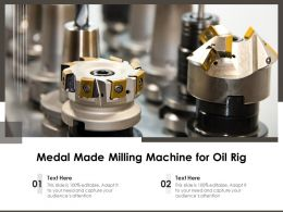 Medal Made Milling Machine For Oil Rig