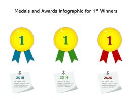 Medals And Awards Infographic For 1st Winners