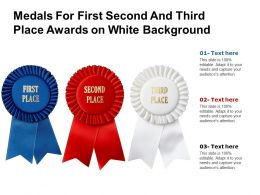 Medals For First Second And Third Place Awards On White Background