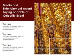 Media And Entertainment Award Laying On Table At Celebrity Event