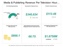 Media And Publishing Revenue Per Television Hour Dashboard