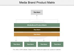 Media Brand Product Matrix Ppt Powerpoint Presentation Infographics Slide Portrait Cpb
