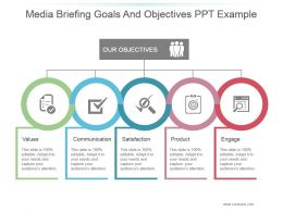 Media Briefing Goals And Objectives Ppt Example
