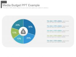 Media Budget Ppt Example