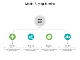 Media Buying Metrics Ppt Powerpoint Presentation Infographic Template Slides Cpb