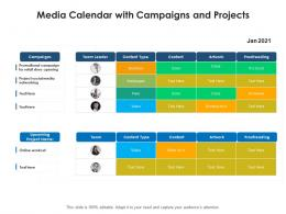 Media Calendar With Campaigns And Projects