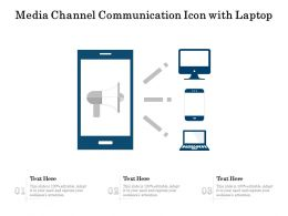 Media Channel Communication Icon With Laptop