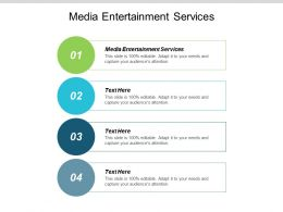 Media Entertainment Services Ppt Powerpoint Presentation Portfolio Example Introduction Cpb