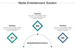Media Entertainment Solution Ppt Powerpoint Presentation Ideas Show Cpb
