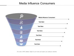 Media Influence Consumers Ppt Powerpoint Presentation Outline Brochure Cpb