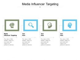 Media Influencer Targeting Ppt Powerpoint Presentation Outline Examples Cpb