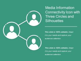 Media Information Connectivity Icon With