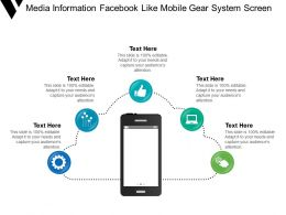 Media Information Facebook Like Mobile Gear System Screen