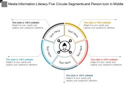 Media Information Literacy Five Circular Segments And Person Icon In Middle