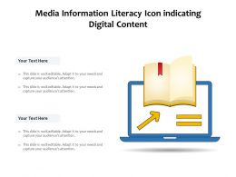 Media Information Literacy Icon Indicating Digital Content