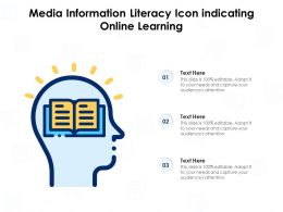Media Information Literacy Icon Indicating Online Learning