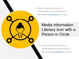Media Information Literacy Icon With A Person In Circle