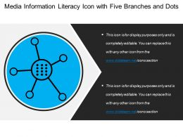 Media Information Literacy Icon With Five Branches And Dots