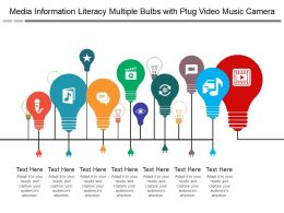Media Information Literacy Multiple Bulbs With Plug Video Music Camera