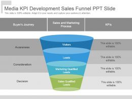 Media Kpi Development Sales Funnel Ppt Slide