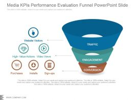 Media Kpis Performance Evaluation Funnel Powerpoint Slide