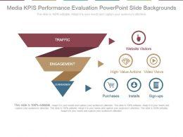 Media Kpis Performance Evaluation Powerpoint Slide Backgrounds