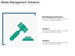 Media Management Solutions Ppt Powerpoint Presentation File Introduction Cpb