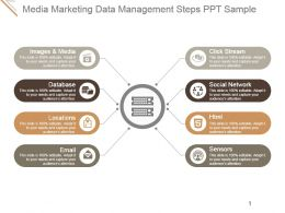 Media Marketing Data Management Steps Ppt Sample