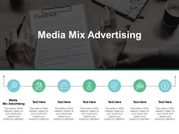 Media Mix Advertising Ppt Powerpoint Presentation Styles Images Cpb