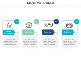 Media Mix Analysis Ppt Powerpoint Presentation Icon Slides Cpb
