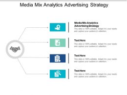 Media Mix Analytics Advertising Strategy Ppt Powerpoint Presentation Slides Smartart Cpb