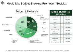 Media Mix Budget Showing Promotion Social Media Out Of Home Advertisement