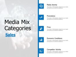 Media Mix Categories Economic Conditions Ppt Powerpoint Presentation Infographics Show