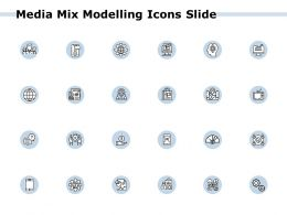 Media Mix Modelling Icons Slide Growth Finance Ppt Powerpoint Presentation Gallery