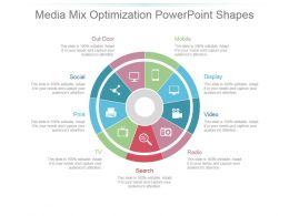 Media Mix Optimization Powerpoint Shapes