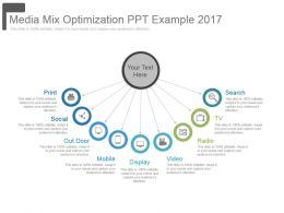 Media Mix Optimization Ppt Example 2017