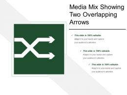 Media Mix Showing Two Overlapping Arrows