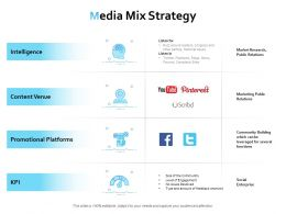 Media Mix Strategy Ppt Powerpoint Presentation Show Designs
